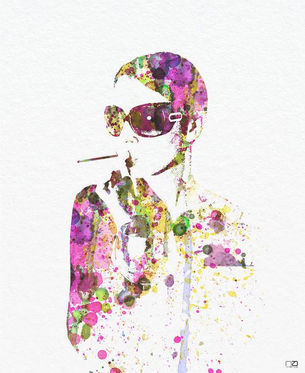 Smoking Photo Poster featuring the digital art Smoking In The Sun by Naxart Studio