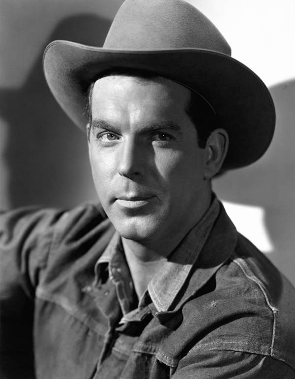 1940s Portraits Poster featuring the photograph Smoky, Fred Macmurray, 1946 by Everett