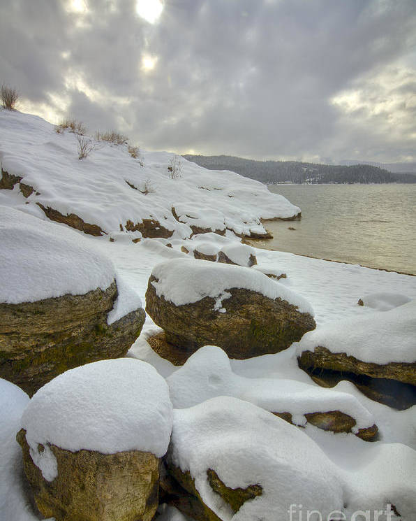 Coeur D'alene Poster featuring the photograph Snowcapped by Idaho Scenic Images Linda Lantzy