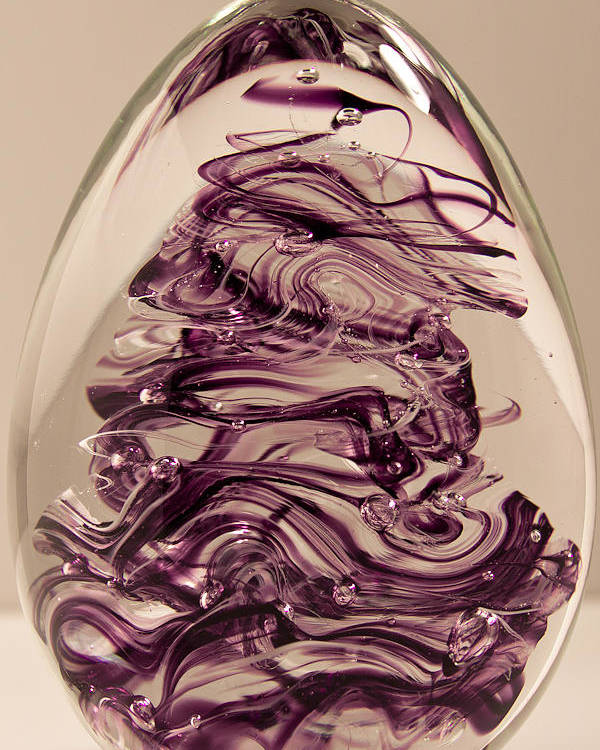 Glass Poster featuring the glass art Solid Glass Sculpture E8 by David Patterson