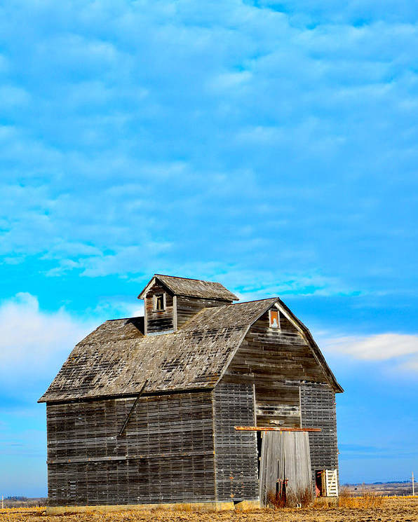 Nebraska Barn Poster featuring the photograph Solitude In The Country No.2 by Christine Belt