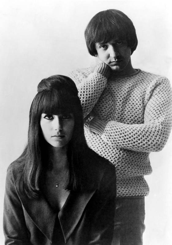 1960s Poster featuring the photograph Sonny & Cher, Sonny Right, Cher Left by Everett