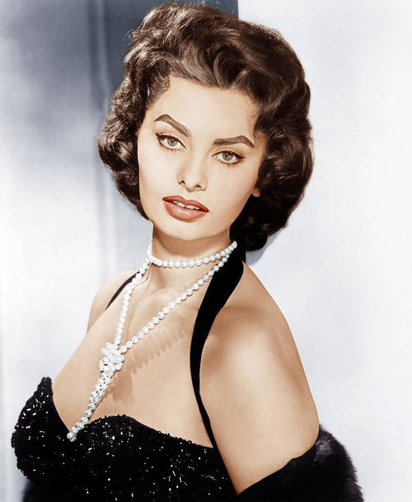1950s Portraits Poster featuring the photograph Sophia Loren, Ca. 1957 by Everett