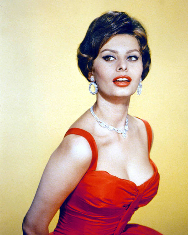 1950s Fashion Poster featuring the photograph Sophia Loren, Late 1950s by Everett