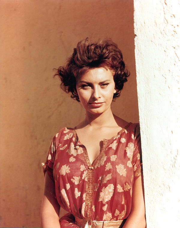 1950s Poster featuring the photograph Sophia Loren, Legend Of The Lost, 1957 by Everett