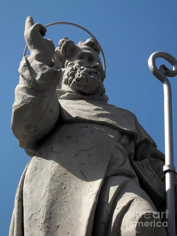 Sorento Patron Saint Poster featuring the photograph Sorento Patron Saint by Paul Sandilands