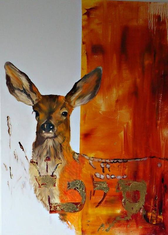 Wildlife Poster featuring the painting Soulmate II by Cass Oest