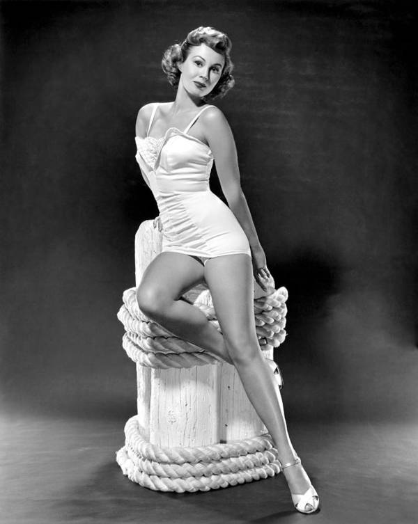 1950s Portraits Poster featuring the photograph South Sea Woman, Virginia Mayo, 1953 by Everett