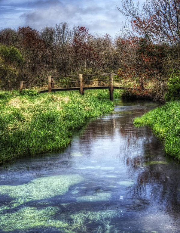 Spring Poster featuring the photograph Southards Pond In Spring by Vicki Jauron