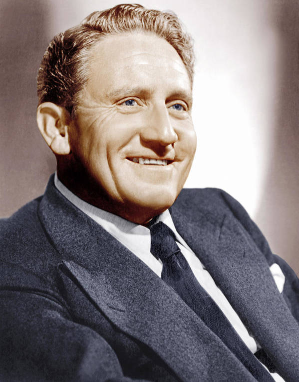1940s Portraits Poster featuring the photograph Spencer Tracy, Ca. 1940s by Everett