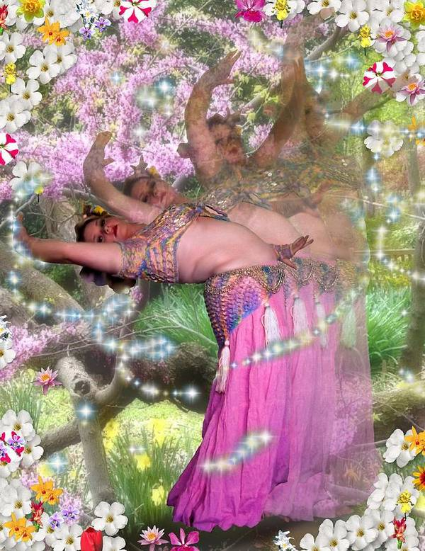 Flowers Poster featuring the digital art Spring Bend by Scarlett Royal