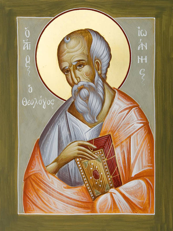St John The Theologia Poster featuring the painting St John The Theologian by Julia Bridget Hayes