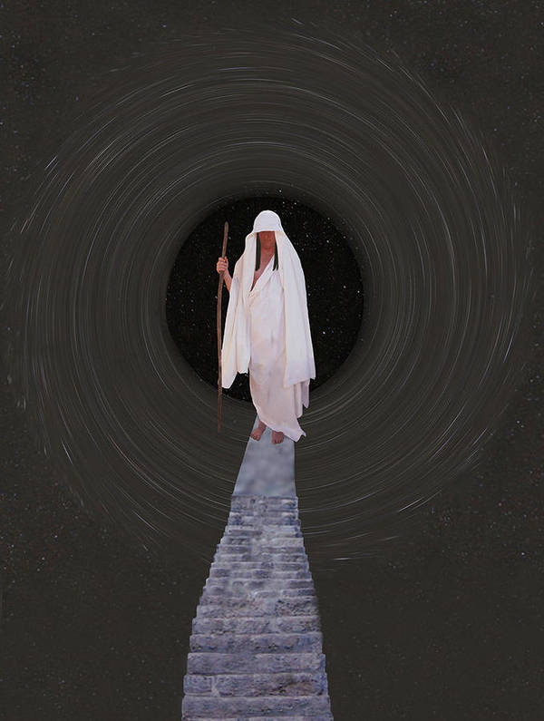 Inner Self Poster featuring the mixed media Stairway To Heaven by Eric Kempson