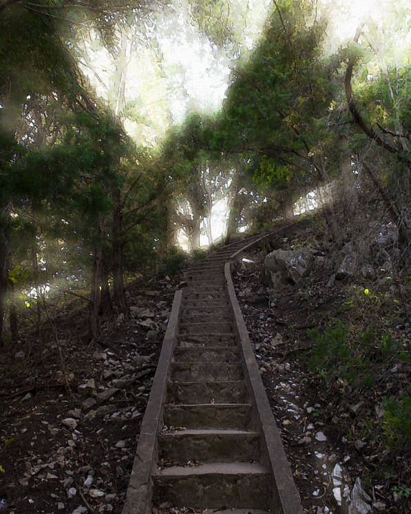 Ascend Poster featuring the photograph Stairway To Heaven by Ricky Barnard