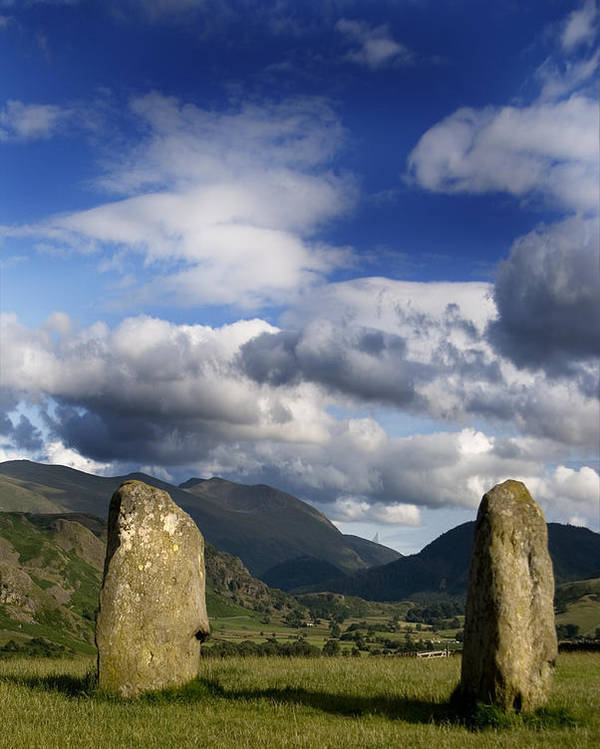 Castlerigg Stone Circle Poster featuring the photograph Standing Stones by Peter Jenkins