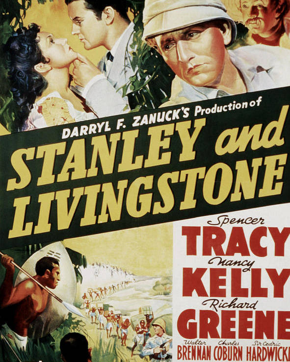 1930s Movies Poster featuring the photograph Stanley And Livingstone, Spencer Tracy by Everett