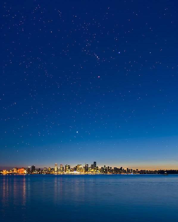 Vancouver Poster featuring the photograph Stars Over Vancouver, Canada by David Nunuk