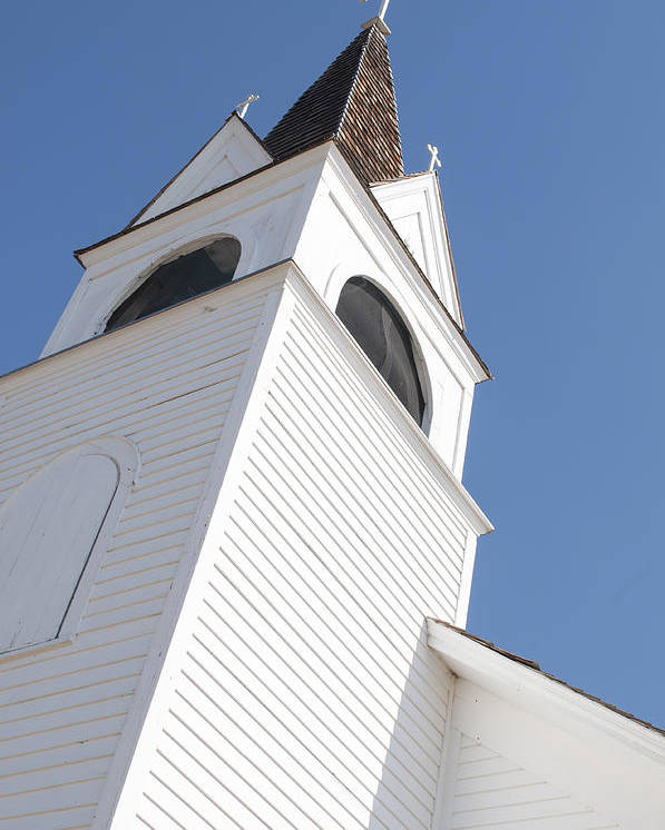 Steeple Poster featuring the photograph Steeple On St. Joseph's Catholic Mission Church by Fran Riley
