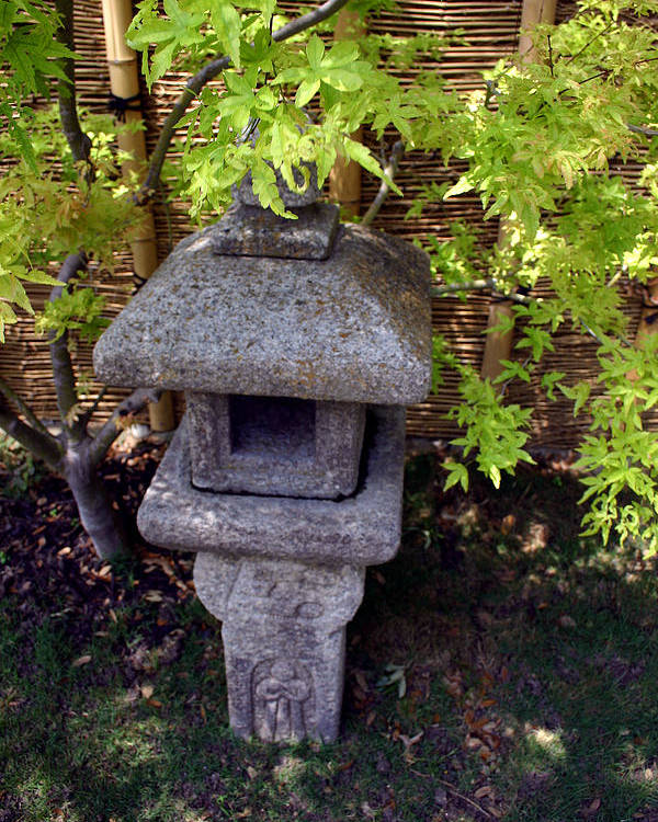 Oriental Poster featuring the photograph Stone Lantern by Nina Fosdick