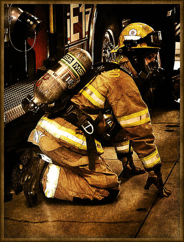Fireman Poster featuring the photograph Stop Drop Roll by Tricia Flinn