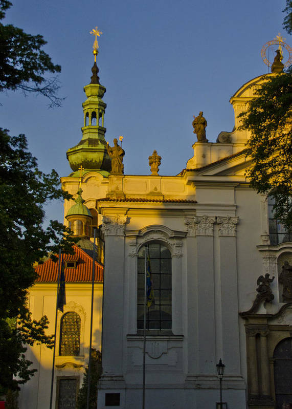 Strahov Monastery Poster featuring the photograph Strahov Monastery - Prague by Jon Berghoff