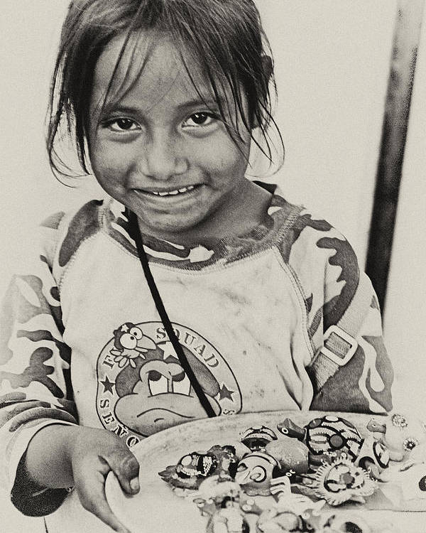 Street Child Poster featuring the photograph Street Child by Carolyn Marchetti