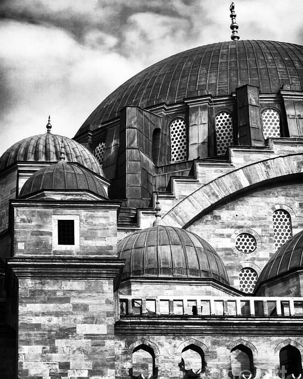Suleymaniye Domes Poster featuring the photograph Suleymaniye Domes by John Rizzuto