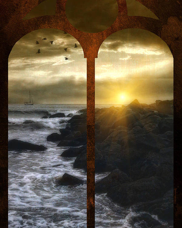 Sunset Poster featuring the photograph Sunset At The Jersey Shore by Tom York Images
