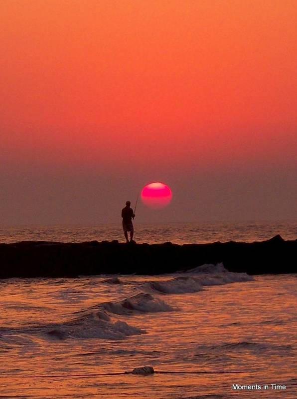 Sunsets Poster featuring the photograph Sunset Fishing by Glenn McCurdy