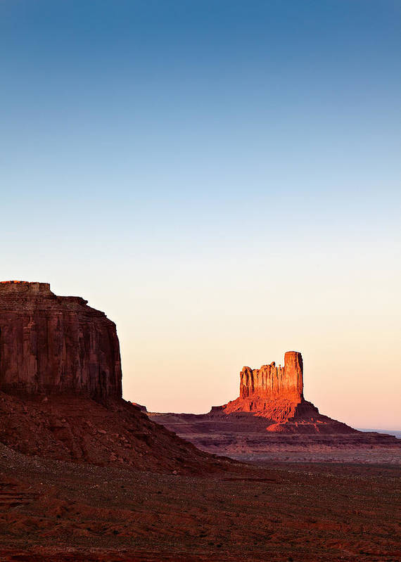 Monument Valley Poster featuring the photograph Sunset In The Valley by Dave Bowman