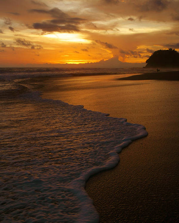 Sunset Poster featuring the photograph Sunset Surf Playa Hermosa Costa Rica by Michelle Wiarda