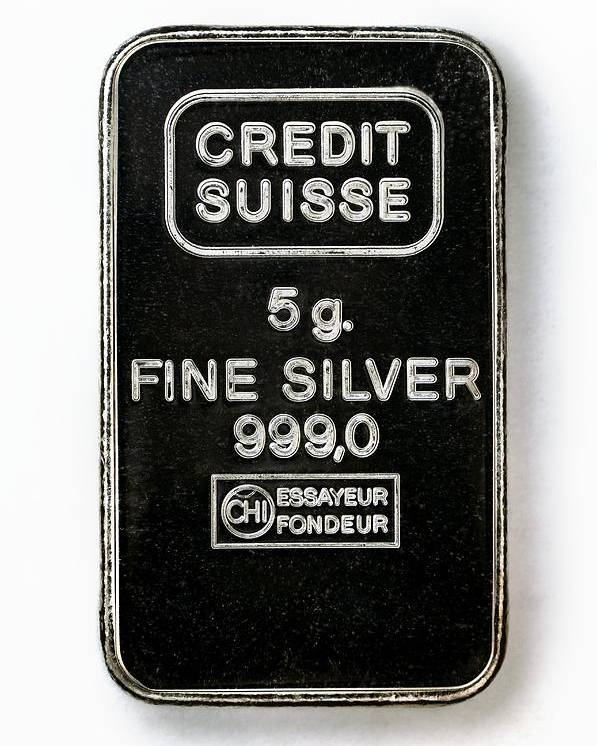 Silver Poster featuring the photograph Swiss Silver Bar by Laguna Design
