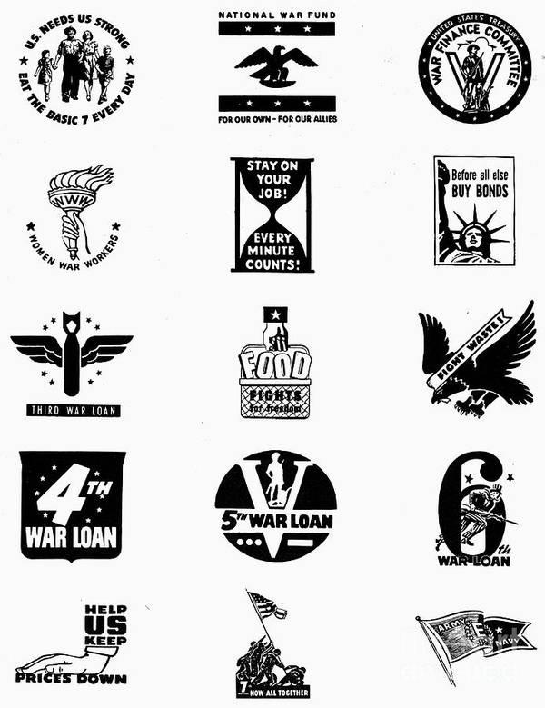 Symbols World War Ii Poster By Granger
