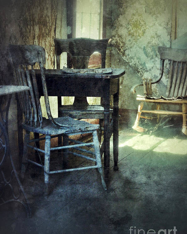 Room Poster featuring the photograph Table And Chairs by Jill Battaglia