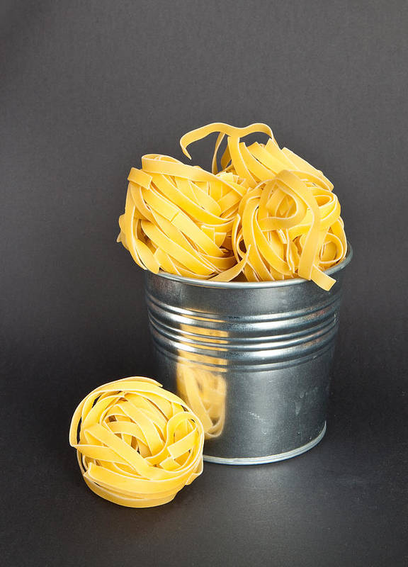 Bucket Poster featuring the photograph Tagliatelle by Tom Gowanlock