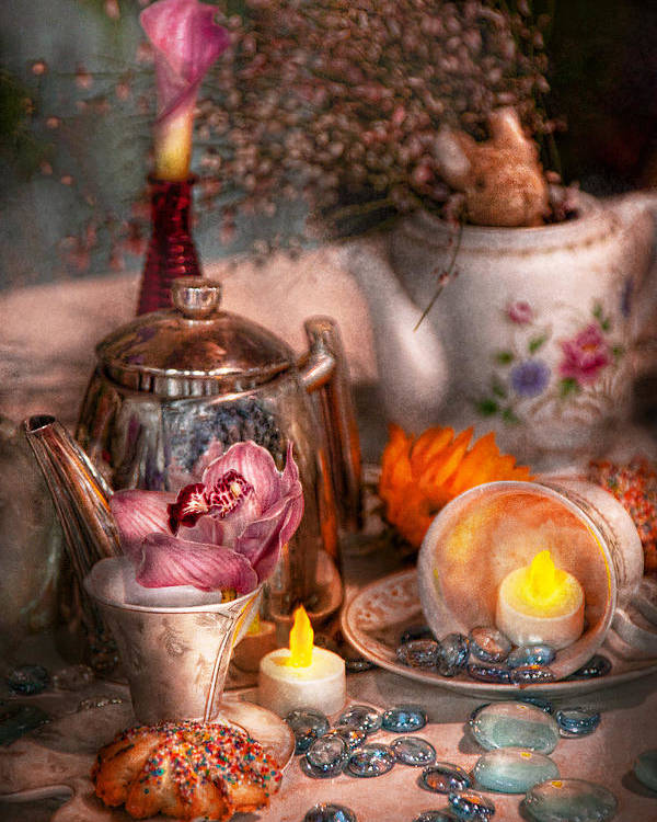 Tea Poster featuring the photograph Tea Party - I Would Love To Have Some Tea by Mike Savad