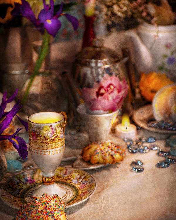 Tea Poster featuring the photograph Tea Party - The Magic Of A Tea Party by Mike Savad