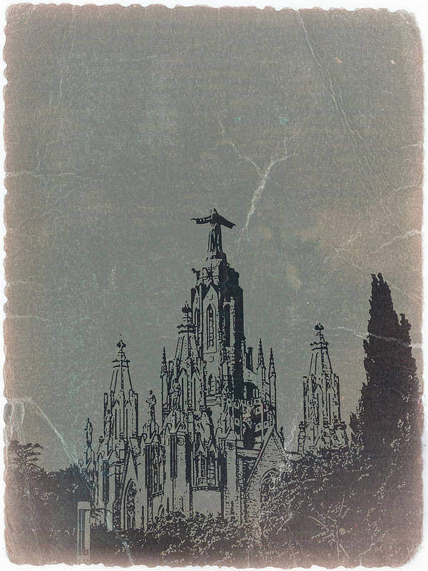 Temple Expiatory Poster featuring the photograph Temple Expiatory by Naxart Studio