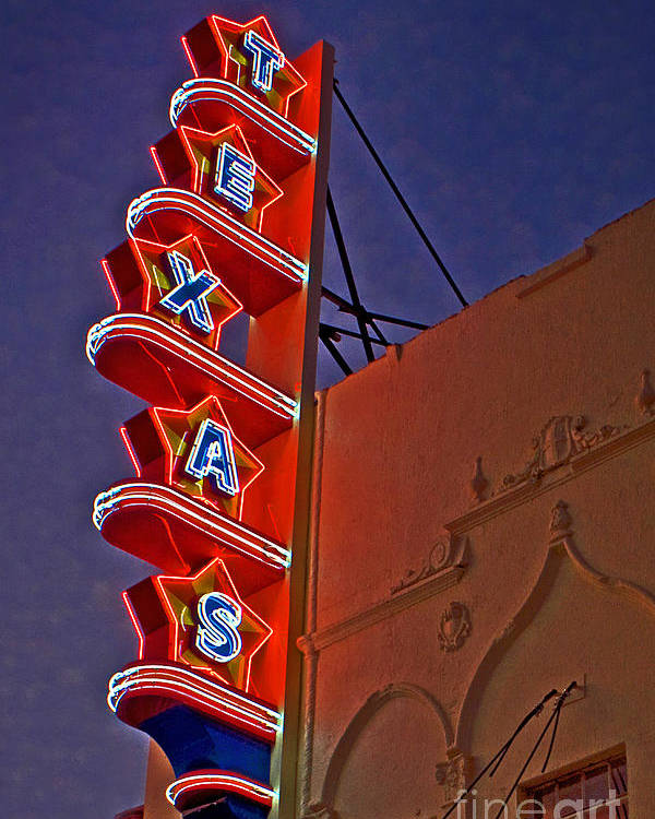 Theater Poster featuring the photograph Texas Theater Restored by Gib Martinez