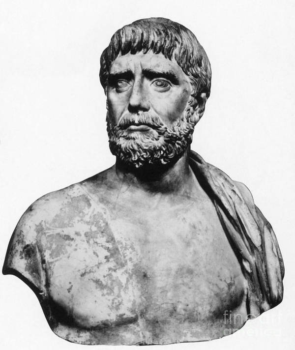 Science Poster featuring the photograph Thales, Ancient Greek Philosopher by Science Source