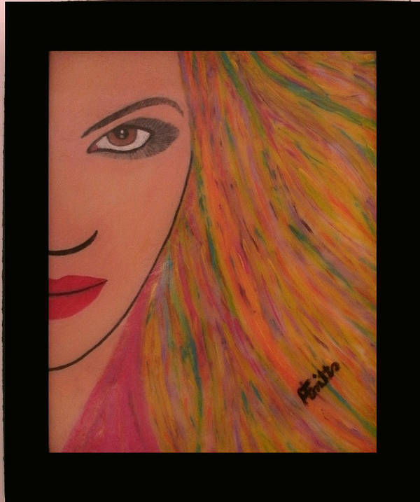 Acrylic Poster featuring the painting That Look by Anneliese Fritts