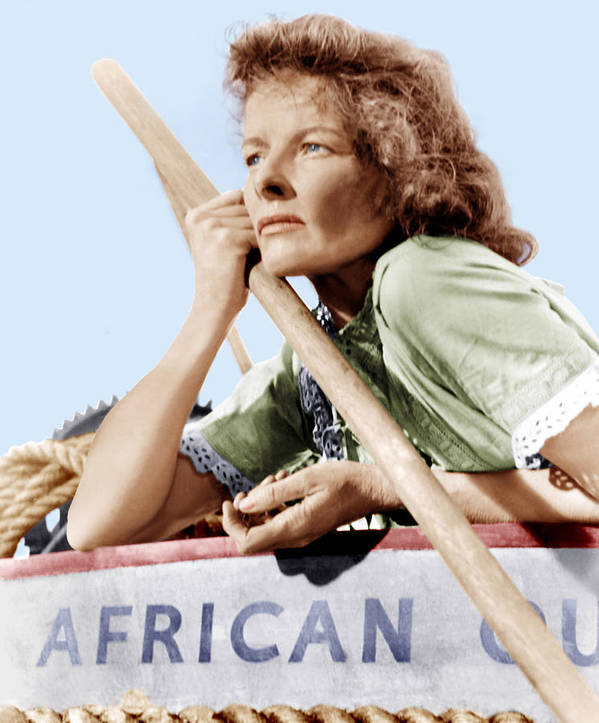 1950s Portraits Poster featuring the photograph The African Queen, Katharine Hepburn by Everett