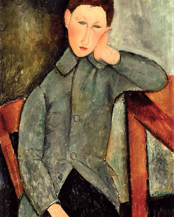 Male Poster featuring the painting The Boy by Amedeo Modigliani