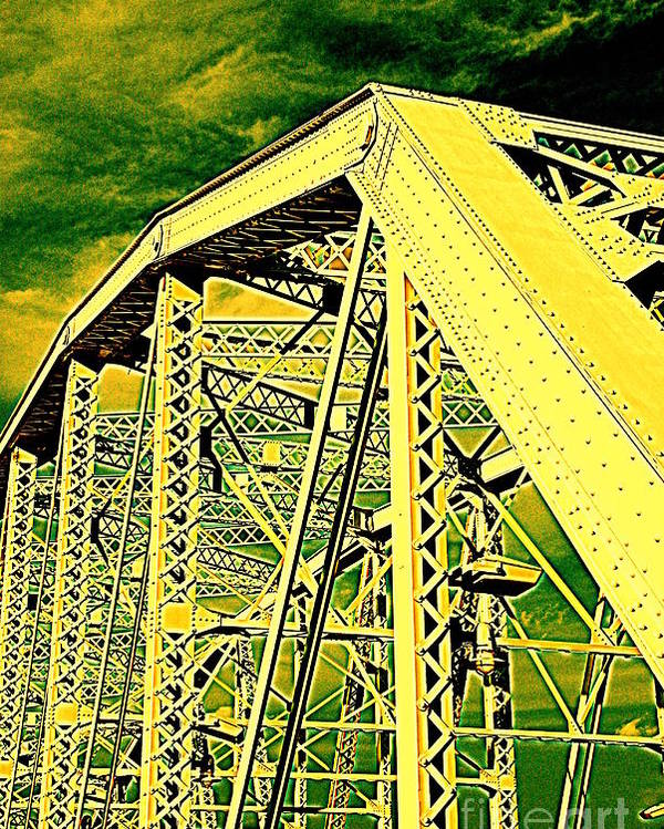 Bridge Poster featuring the photograph The Bridge To The Skies by Susanne Van Hulst