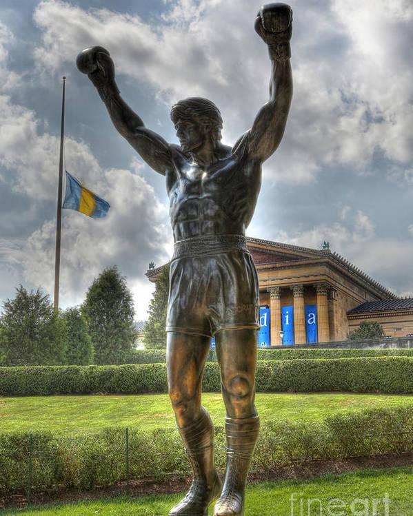 Arena Poster featuring the photograph The Bronze Stallion - Rocky Balboa - Philadelphia - Pennsylvania - Rocky Steps by Lee Dos Santos