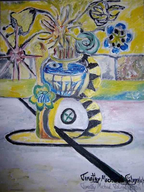 Surrealism Poster featuring the painting The Bruins Won by Timothy Foley