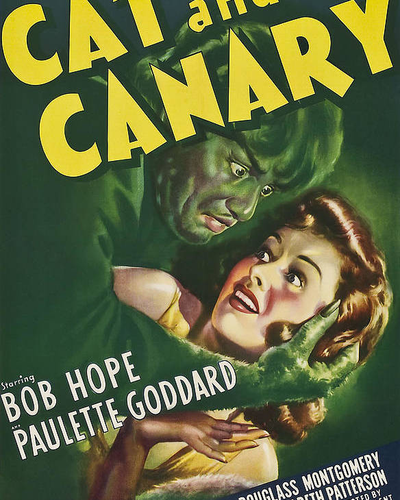 1930s Movies Poster featuring the photograph The Cat And The Canary, Douglass by Everett