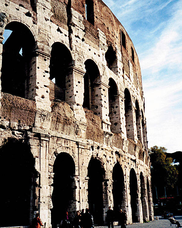 Colosseum Poster featuring the photograph The Colosseum by Donna Proctor