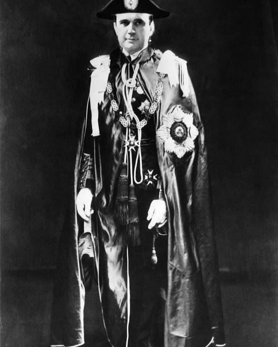 1930s Poster featuring the photograph The Coronation Mantle To Be Worn by Everett