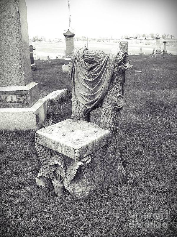 Grave Stone Poster featuring the photograph The Devil's Chair by Stephany Knight